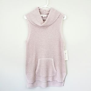 Vince Camuto | Pink Sleeveless Cowl Neck Sweater
